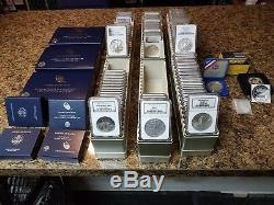 (93)1986-2016 American Silver EaglesNGC Ms69-70Ultra Cam Pf69-70Special