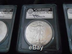 American Eagle 25 Th Anniversary Ms 70 Silver Eagle Set Mercanti Signed
