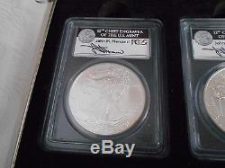 American Eagle 25 Th Anniversary Ms 70 Silver Eagle Set Mercanti Signed