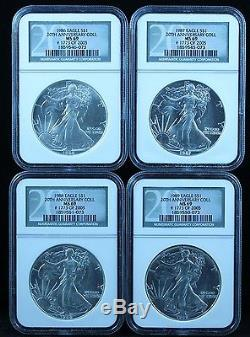 American Silver Eagle 20-Coin Set 1986-2005 NGC Graded MS-69