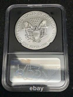 Burnished 2020 W NGC MS70 MERCANTI-signed American Silver Eagle Dollar FDOI $1