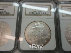 Complete Run of Silver American Eagles 1986-2019 ALL NGC MS-69 (34 Coins)