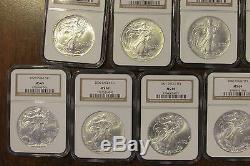 Complete Set 1986-2005 $1 American Silver Eagle Set NGC MS69