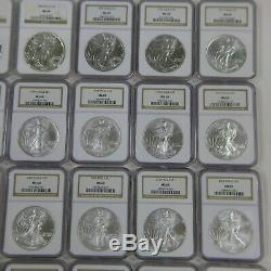 Complete Set of 1986-2017 American Silver Eagles (33 Coins) Certified NGC MS 69