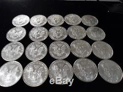 Full Roll of 20 2002 American Silver Eagle. 999 Pure One Ounce. BU MS TUBE LOT