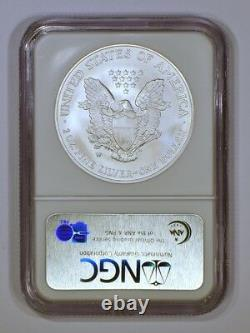 Gem 2008-W Reverse of'07 American Silver Eagle ASE MS69 Early Releases by NGC