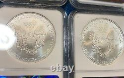 (Lot of 10) 2010 American Silver Eagles. All are NGC MS69. ASE