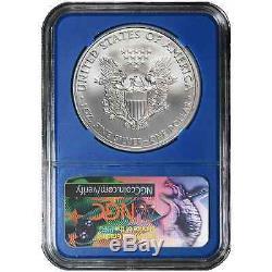 Lot of 10 2017 $1 American Silver Eagle NGC MS70 FDI Black Label Blue Core