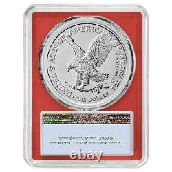 Lot of 10 2021 1 oz Silver American Eagle Type 2 PCGS MS 70 FS (Red Frame)