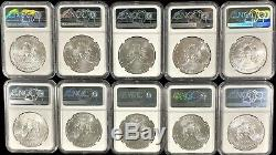 Lot of 10 x 2020 P Emergency Issue American Silver Eagle First Strike NGC MS 70