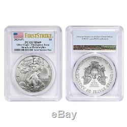 Lot of 2 2020 (P) 1 oz Silver American Eagle PCGS MS 69 FS Emergency Issue