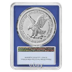 Lot of 2 2021 1 oz Silver American Eagle Type 2 PCGS MS 70 FS (Blue Frame)