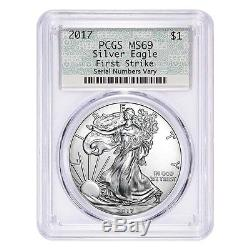 Lot of 20 2017 1 oz Silver American Eagle $1 Coin PCGS MS 69 First Strike Doi