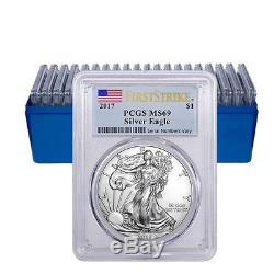 Lot of 20 2017 1 oz Silver American Eagle $1 Coin PCGS MS 69 First Strike Fla