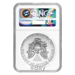 Lot of 5 2018 1 oz Silver American Eagle $1 Coin NGC MS 70 Early Releases