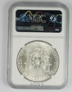 MS70 1986 American Silver Eagle Graded NGC 1047