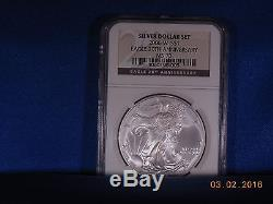 N. G. C. 2006-W (Burnished) 20TH. Anniversary Silver American Eagle MS-70