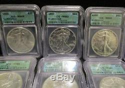 Nice Starter Lot of (15) American Silver Eagles All ICG MS 69