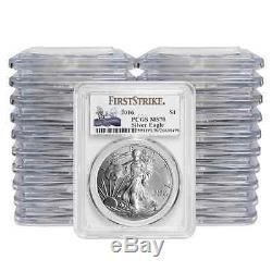 PRESALE (20) 2016 $1 American Silver Eagle PCGS MS70 30th Anniv. Label