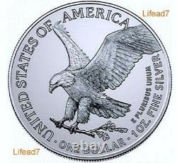 Pre-Sale 2021 2oz American Silver Eagles TWO Coin Set PCGS MS70 Same Eagle Label