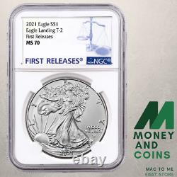 Pre-Sale 2021-W $1 Type 2 American Silver Eagle NGC MS70 Early Release
