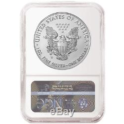 Presale 2020-W Burnished $1 American Silver Eagle NGC MS70 Blue ER Label