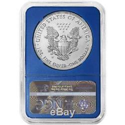 Presale 2020-W Burnished $1 American Silver Eagle NGC MS70 FDI Black Label Blu