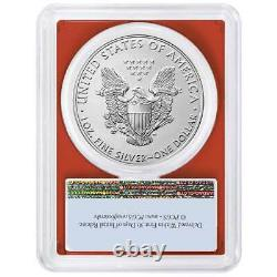 Presale 2021 $1 American Silver Eagle 3pc. Set PCGS MS69 FS Flag Label Red Whi