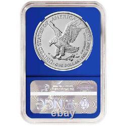 Presale 2021 $1 Type 2 American Silver Eagle 3 pc Set NGC MS70 Blue ER Label R