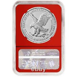 Presale 2021 (W) $1 Type 2 American Silver Eagle 3 pc Set NGC MS70 ER Flag Lab