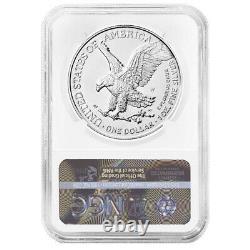Presale 2021-W Burnished $1 Type 2 American Silver Eagle NGC MS70 ER ALS Label