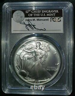 RARE 1989 American silver eagle PCGS MS70 Signed by John Mercanti PCGS pop. 21