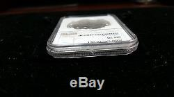 RARE 2000 $1 Silver American Eagle NGC MS70 Brown Labe NGC 265732-025