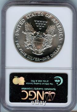 Rare 1990 NGC MS-70 20th Anniversary American Silver Eagle 1oz. Spot Free JE154