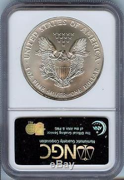 Rare 1996 NGC MS-70 20th Anniversary American Silver Eagle 1oz. Spot Free JE161