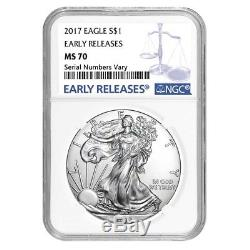 Sale Price Lot of 20 2017 1 oz Silver American Eagle $1 Coin NGC MS 70 Early