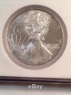 Silver American Eagle 2 Coin Holder Set NGC MS69 1992-1994 1995-1997