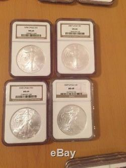 Silver American Eagle Set 1986 To 2016 31 Coins NGC MS69